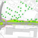 Kreisel und Umbau Albstraße Stetten
